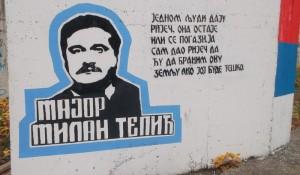 Milan Tepić, grafit u Banjaluci