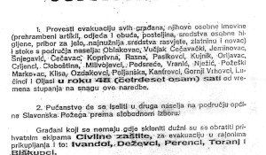 Naredba o evakuaciji od 28. listopada 1991, Slavonska Pozega - - kliknuti za uvećanje