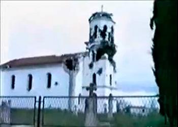 Crkva sv. Ilije (osv. 1872) u Kašiću, stradala u agresiji na Ravne Kotare