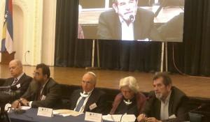 Predsednik DIC Veritas Savo Štrbac govri na 6. konferenciji Genocidni zločin Nezavisne Države Hrvatske nad Srbima, Jevrejima i Romima u Drugom svjetskom ratu, Banja Luka 19.05.2014.