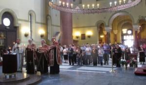 Parastos Srbima ubijenim na Miljevačkom platou, Crkva Svetog Marka, Beograd, 21. jun 2014, foto:SRNA