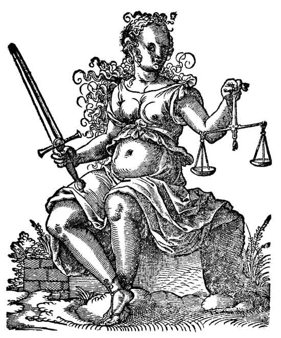 Justitia, Jost Aman (1539-1591) Photo: Wikipedia