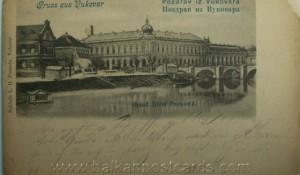 Razglednica Vukovara, 1900. godina Foto: Tviter, korisnik Alex