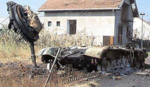 Tenk JNA uništen u sukobu sa ZNG, Vukovar 1991.