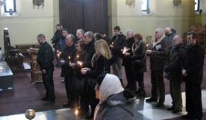 Parastos u Crkvi Sv. Marka Srbima stradalim u hrvatskoj opeaciji Maslenica Foto:Srna, 22.01.2015.