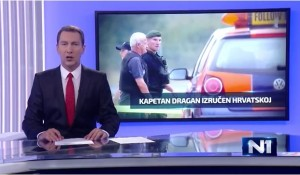 TV N1, Dnevnik, Izjava Save Štrbca o poštenom i fer suđenju Draganu Vasiljkoviću u Hrvatskoj