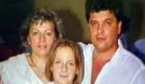 Porodica Zec iz Zagreba, Mihajlo (38), Marija (36) i njihova ćerka Aleksandra (12), masakrirani 7.12.1991. Photo credit: Filip Marković @Markonileoni