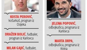 Sportisti prognani iz Hrvatske Grafika: Blic