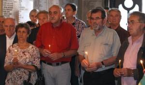 """Parastos Srbima koje je hrvatska vojska ubila u akciji """"Medački džep"""" 1993. Foto: Tanjug, 9.9.2015."""