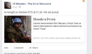 """Danski dokumentarni film """"15 - minuta Masakr u Dvoru"""" Foto: FB stranica filma, screenshot"""