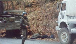 Ravni Kotari, 22.1.1993. hrvatska operacija Maslenica Foto: Pogledi.rs / Никола Леру (Nicolas Leroux)