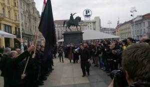 Ustaška A-HSP maršira Zagrebom, 28.02.2016. Foto: Vijesti.rtl.hr / Anto Magzan/PIXSELL