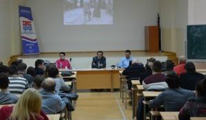 Savo Štrbac: Nema pravog pomirenja bez istine, tribina FF Niš, 25.3.2016. Foto: Studnel / Danilo Milenković
