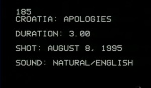 Hrvatska se izvinjava danskom kontigentu UNPROFOR-a, 8.8.1995. Foto: Screenshot