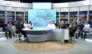 RTRS, Aspekt, 25.4.2016, Savo Štrbac, Milomir Savčić i Zoran Brkić Foto: RTRS, screenshot