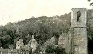 Crkva sv. Petra i Pavla u Smiljanu, izgled 1945. Foto: Gospic.rs