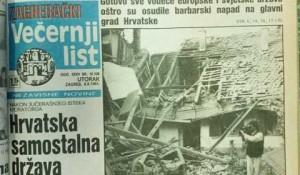 Večernji list (Zagreb): Hrvatska samostalna država Foto: Alo!