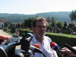 Бањалука: Саво Штрбац у разговору са новинарима, 4.8.2016.