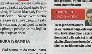 Savo Štrbac, izjava za Srpski telegraf, 06.12.2016.