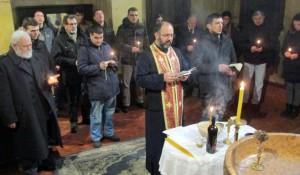 Crkva Sv. Marka: Parastos Srbima ubijenim na Ravnim Kotarima i prevoju Mali Alan 1993. Foto: SRNA