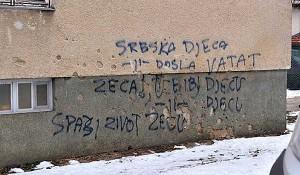 Kralovac: Skandalozan grafit u HR: Srpska deca, došla vatat zeca... Foto:Tanjug via HINA, Kurir