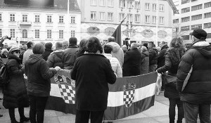 U centru Zagreba održan antisrpski skup 18.2.2017. Foto: Portal novosti
