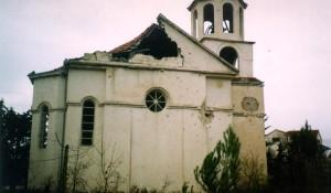 Crkva Arhangela Mihaila, Smilčić, devastirana 1992. godine Foto: Eparhija Dalmatinska