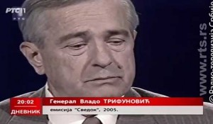 RTS, Svedok: General Vlado Trifunović, 2005. Foto: RTS, youtube screenshot