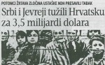 Blic, 14.03.2017., Srbi i Jevreji tužili Hrvatsku za 3,5 milijardi dolara