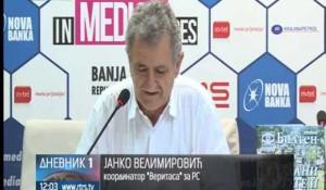 Banjaluka: Janko Velimirović na Veritasovoj konferenciji za štampu, 3.8.2018. Foto: RTRS