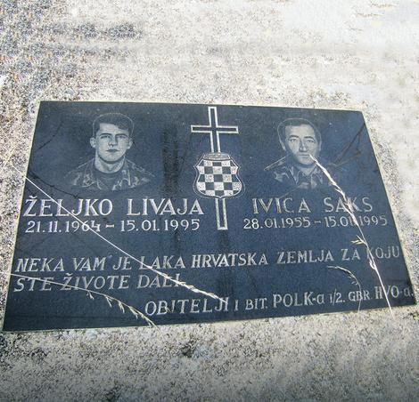 Foto: R. Šegrt / RAS Srbija SPOMEN-PLOČA ZA HRVATSKE VOJNIKE