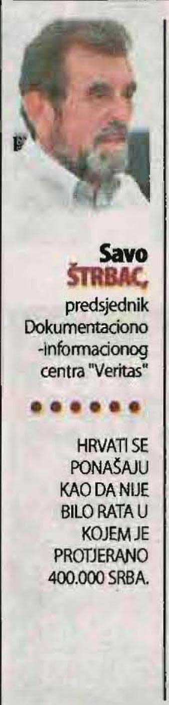 Nezavisne novine, 10.08.2017, Savo Štrbac o Hrvatima