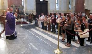 """U crkvi Svetog Marka služen pomen za žrtve """"Medačkog džepa"""", 9.9.2017. Foto: RTRS"""