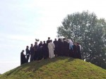 Memorijalni kompleks Jasenovac, pomen na memorijalnoj humci, 9.9.2017. Foto: Mira Jovanović