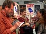 DIC Veritasov štand na Beogradskom sajmu knjiga, petak, 27.10.2017. Foto: Tim DIC Veritas