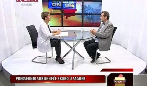 Gostovanje Save Štrbca na TV KCN, 6.10.2017. Foto: Screenshot