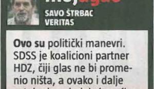 Informer, 05.12.2017, Hrvatski zakon: Srbi su agresori