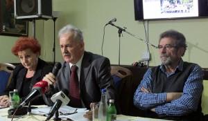 Beograd, konferencija - Pjevač i Štrbac Foto: SRNA, RTRS