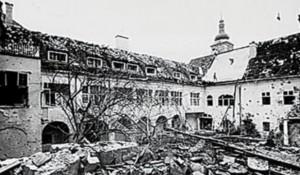 Raketiranje Banskih dvora 1991. godine Foto: HRT