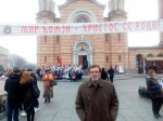 Savo Štrbac ispred Hrama Hrista spasitelja Foto: Milojko Budimir