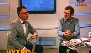 StudioB: Jutro sa Sanjom – gosti Savo Štrbac i Dejan Risitić, 11.2.2018. Foto: Screenshot