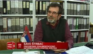 RAS, Tema dana: Izjava Save Štrbca povodom posete A.Vučića Zagrebu, 13.2.2018.