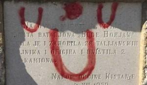 Kistanje, Nacionalni park Krka, skrnavljenje spomenika iz Drgog svetskog rata Foto: Vesti