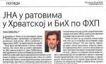 Политика, 25.06.2018, Саво Штрбац: ЈНА у ратовима у Хрватској и БиХ по ФХП