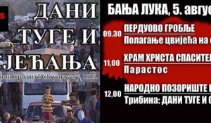 ДИЦ Веритас, 30.08.2018, Дани туге и сјећања: Олуја је погром - Бања Лука