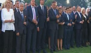 """Bačka Palanka: Obilježen Dan sjećanja na ubijene i prognane Srbe u """"Oluji"""" Foto: RTRS"""