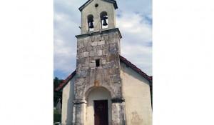 Selo Strmica na Tromeđi, crkva Sv. Jovana Krstitelja (1618) Foto: SRNA, RTRS