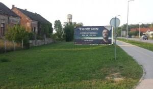 Tompsonovi plakati ispred hrvaskog ustaškog logora Danica u Koprivnici Foto: Tviter