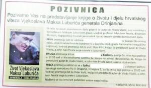 Pozivnica za promociju sporne knjige Foto: Srpski telegraf