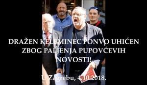 Keleminec priveden nakon što je opet palio primjerke tjednika 'Novosti', iza rešetaka završio i fotoreporter Foto: Screenshot
